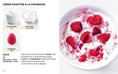 La cuisine la plus facile du monde / France Inter Dessert Fruits Rouges, Bon App, No Cook Desserts, Custard, Cravings, Raspberry, Lunch Box, Nutrition, Healthy Recipes