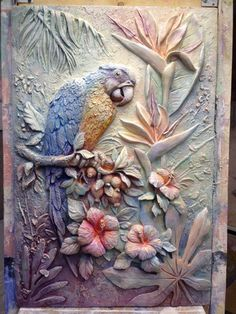 Sculpture Painting, Mural Painting, Mural Art, Wood Sculpture, Clay Wall Art, 3d Wall Art, Clay Art, Plaster Crafts, Plaster Art