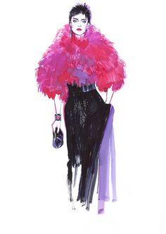 Diana Kuksa (Nesypova) on Behance Fashion Art, Fashion Show, Vintage Fashion, People Illustration, Fashion Sketchbook, Fashion Design Sketches, Illustrators, Korean Fashion, Trekking