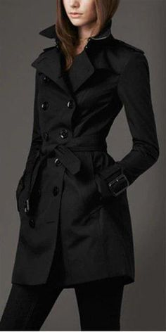 Trench Coat Outfit For Spring activation trends Trench Coat Outfit, Coat Dress, Black Trench Coats, Trench Coat Women, Burberry Trenchcoat, How To Have Style, Double Breasted Trench Coat, Stylish Coat, Winter Looks