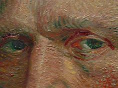 From Van Gogh's self portrait.  Amazing on many levels.