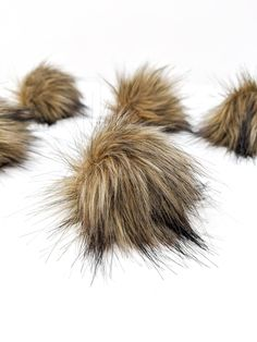 Brown Faux Fur Pom Poms – Warehouse 2020 English House, Faux Fur Pom Pom, Medium Brown, Black Nylons, Pom Poms, 6 Inches, Warehouse, Cart, Note