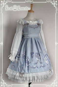 Krad Lanrete - Catherine's Tears - Sax Saxon blue Lolita JSK jumper skirt