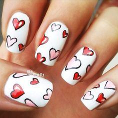 So-Pretty Nail Art Designs for Valentines Day ★ See more: http://glaminati.com/nail-art-designs-valentines-day/