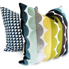 Jonathan Adler Multicolor Semi Circle Velvet Decorative Pillow Cover... ($40) ❤ liked on Polyvore featuring home, home decor, throw pillows, pillows, grey, home & living, multi color throw pillows, grey home decor, colorful throw pillows and gray accent pillows