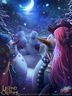 Artist: Atents - Title: Unknown - Card: Snowmen and Hide & Seek (Caution)