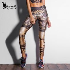 52f193146c87d [You're My Secret] Fashion Design Steampunk Women Pant Star Wars leggins  High Waist Mechanical Gear Print Leggings for Women