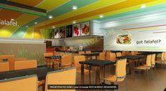 Modern Falafel Fast Food Restaurant Design