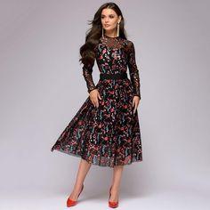 Multi Color Floral Lace Long Sleeve Dress WC-252 Cheap Dresses, Casual Dresses, Fashion Dresses, Maxi Dresses, Beach Dresses, Casual Wear, Sheer Dress, Chiffon Dress, Mesh Dress