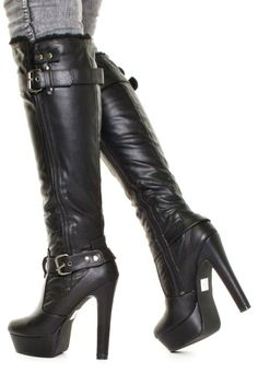 Look for a great Step out within a new two of girls' boots from our trendsetting rewrite. Thigh High Boots, High Heel Boots, Knee Boots, Heeled Boots, Bootie Boots, Ankle Booties, Sexy Boots, Black Boots, Black Leather Gloves