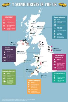 Infographic 7 Scenic Drives In UK - Hertz Car Hire