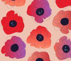 pop pop (red on cream) fabric by anna_lisa_brown on Spoonflower - custom fabric