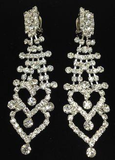 Rhinestone Chandelier Clip-on Earrings | Costume Fashion Earrings ...