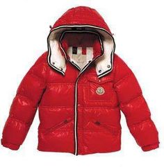 Moncler Kids Branson Down Jacket Red