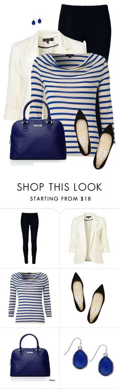"""""""Striped Top"""" by daiscat ❤ liked on Polyvore featuring Hobbs, Jimmy Choo, Kenneth Cole Reaction and Nine West"""