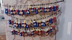 2014 advent calendars for my nephews and niece. Made from toilet paper rolls