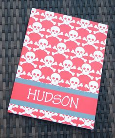Look what I found on #zulily! Crossbones Personalized Folder #zulilyfinds