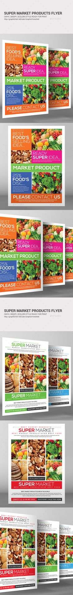 Supermarket  Product Flyer  Flyer Template Brochures And Typography