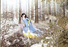 çizgili masallar: Snow White and the Seven Dwarfs by Nancy Ekholm Burkert