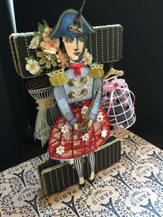 Jeanne Marie's PARIS exhibition with stamped illustrations from the Paris Flea collection from Character Constructions.  Ooh La La!