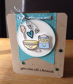 Lawn Fawn's baked with love coordinating stamp & die set.