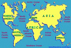 How Many Oceans And Seas Oceans And Continents How Meny Oceans - How many oceans in the world
