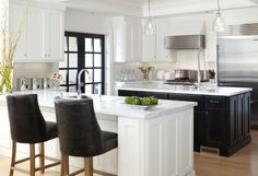 Black and White urban kitchen
