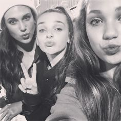 Maddie, Kendall and Kendall's sister at a football game!!
