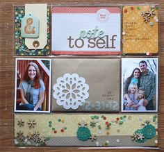 Lovely layout including a time capsule letter to yourself from the @Studio Calico weekly challenge