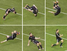 Miro Klose goal celebration!
