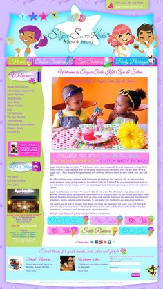 We went with fun shapes and bright colors and the new design spotlighted their custom artwork and made it the main focus. http://sugarsuitekids.com/