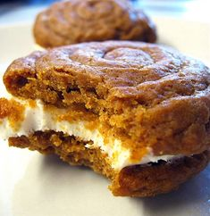 Pumpkin Whoopie Pies with Cream Cheese Filling - I can use Splenda for the pie part, and Swerve for the filling. Perhaps almond meal for at least half of the flour....