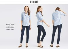 Women's Pant Fit Guide : Skimmer, Chinos, Trousers | J.Crew Factory