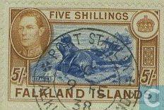 Postage Stamps - Falkland Islands - King George VI definitive