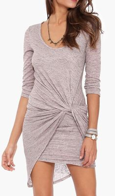 Lawrence Knot Dress in Taupe. Love the dress, but I wish it were longer!