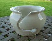 Creamy White Yarn Bowl