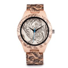BOBO BIRD Men Casual Wristwatch Bamboo Wooden High Quality Quartz Watch with All Wood Strap relogio masculino Audemars Piguet, Luxury Watches, Rolex Watches, Wooden Watches For Men, Swiss Army Watches, Bracelet Clasps, Casual Watches, Beautiful Watches, Bracelets