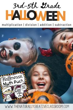 Halloween Math Activities | The Naturally Creative Classroom | This 25 page super fun Halloween Packet includes activities for addition, subtraction, multiplication and division. Use in class to review word problems, probability, fractions and more with 3rd grade, 4th grade and 5th grade. Perfect for Math Centers, Early Finishers, as review or as a challenge. Includes a 100 problem math hidden picture for Halloween. Print and go! #halloweenmath #thenaturallycreativeclassroom #4thgrademath