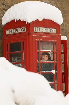 A man makes a call from a telephone box in Dunning, Scotland, November 2010 Weather Snow, Telephone Booth, Snow Pictures, Winter Beauty, My Heritage, Mexico Travel, Winter Scenes, Countries Of The World, The Guardian