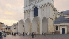Japanese studio Kengo Kuma and Associates has unveiled plans for a contemporary entrance gallery to protect the sculptural doorway at Angers Cathedral, France.