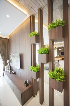 40 Beautiful Partition Wall Ideas - Engineering Discoveries - One Living Room Partition Design, Room Partition Designs, Living Room Tv Unit Designs, Partition Ideas, Partition Walls, Living Room Divider, Wall Design, House Design, Home Entrance Decor