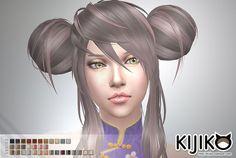 Sims 4 CC's - The Best: Panda Lan Lan Hair by Kijiko