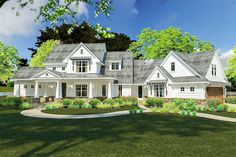 Flexible Farmhouse with Loads of Outdoor Living - 16898WG | Architectural Designs - House Plans