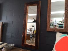 Handmade timber mirror perfect home decor Rustic Inspiration, Inspiration, Reclaimed Timber, Timber, Furniture, House, Bookshelves, Home Decor, Table Furniture