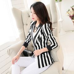 Like and Share if you want this  2016 New Spring And Autumn Women Blazer OL Slim Suit Back And White Stripe Blazer Outerwear Female Long Sleeve Suit Jacket     Tag a friend who would love this!     FREE Shipping Worldwide     Buy one here---> https://ihappyshop.com/2016-new-spring-and-autumn-women-blazer-ol-slim-suit-back-and-white-stripe-blazer-outerwear-female-long-sleeve-suit-jacket/