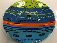Round FusedGlass Dish - by Derryrush Designs. Delphi Artist Gallery