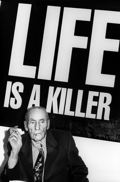 → eccentricKOLLECTOR eccentrickollector: Life is a Killer. Last Sitting. The Bunker, NYC © Kate Simon Limited edition black and white archival pigment print of William S. Burroughs was debuted during a solo exhibition of portraits of the writer by Kate Simon./showstudio