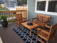 Ana White | Woven Back Bench, Chairs, plus a table - DIY Projects