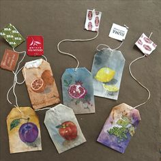 was born in Tacloban City, Philippines; currently lives in the Hudson Valley, NY) Tea Bag Art, Tea Art, Hobbies And Crafts, Arts And Crafts, Tee Kunst, Paper Art, Paper Crafts, Creation Art, Art Sculpture