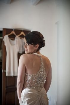 Gorgeous back detail | you can see the front of the dress here: http://www.stylemepretty.com/gallery/picture/938835